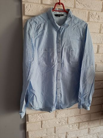 Koszula Reserved r. 42 XL damska niebieska w paski długi rękaw
