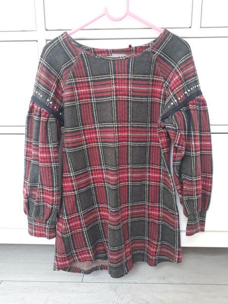 Sukienka w kratkę Next 8 lat 128 cm
