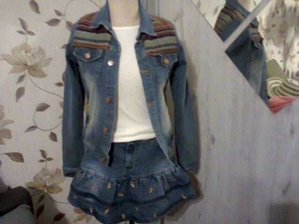 kurtka jeansowa 146