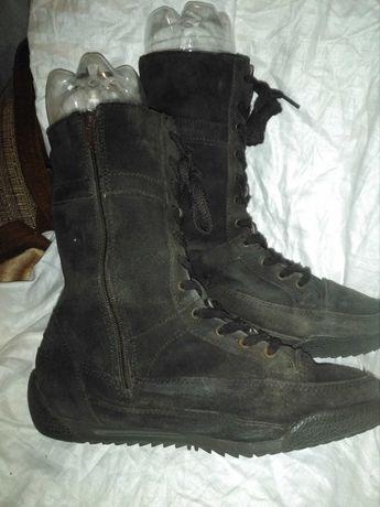 Берцы борцовки кроссовки сапоги 40 кожаные теплые