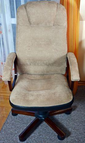 Fotel biurowy, obrotowy, na kółkach, z materiału
