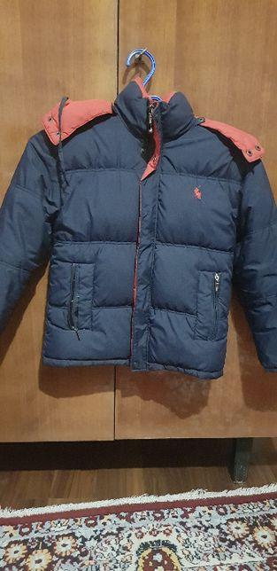 детская одежда для мальчиков зимняя куртка темно-синего цвета,длина 50