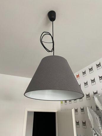 Szara lampa wiszaca