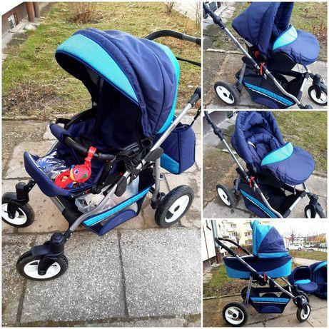 Wózek dziecięcy 4w1, głęboki +spacer+ fotelik/nosidełko +gratis