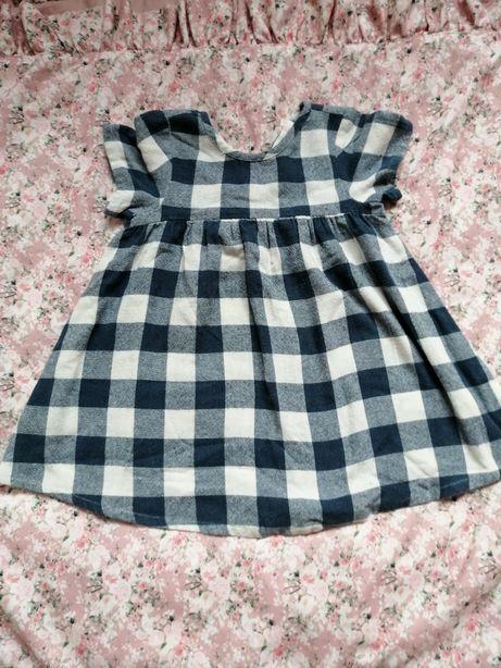 Zara śliczna sukienka w kratkę 98