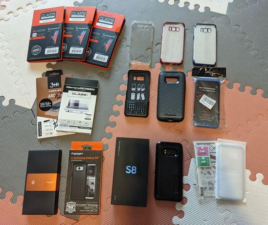 S8, QWERTY, Spigen, Clayco, Samsung Galaxy S8, zestaw, super stan