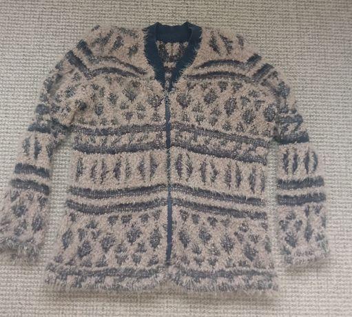 Długi sweter na zamek 42 44 XL/XXL