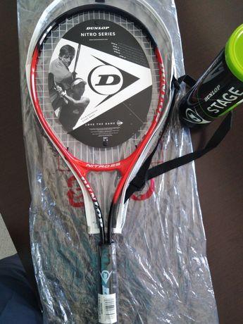 Raquete Tennis Dunlop Nitro 25 +cx 3 Bolas Dunlop Stage 1