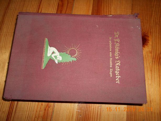 Zabytkowa ksiarzka medyk Antyk jezyk niemiecki zamienie za jedzeni