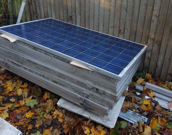 Paineis solar fotovoltaico Usados de 29.6V, 235W, 1638mm x 982mm x 4cm