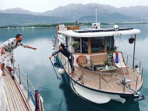 Дом на воде с сауной! Яхта. Хаусбот.