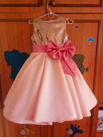 Платье на выпускной в сад, размер 5-6 лет, подойдет для стиляг