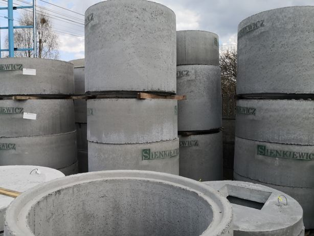 Kręgi betonowe 60,80.100,120, 150 cm. pokrywy na kregi