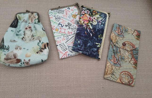 Bolsas para telemóveis, óculos, canetas,  lenços papel...