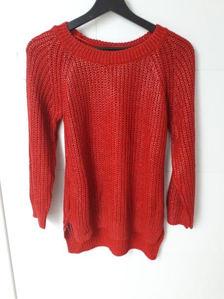 Sweter Zara rozm.38 M błyszczący czerwony