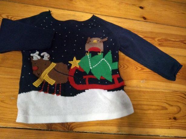 Sweterek świąteczny next 80