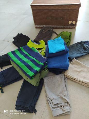 spodnie, kurtka, bluza - ubrania dla chłopca 1-2 lata (86- 92)
