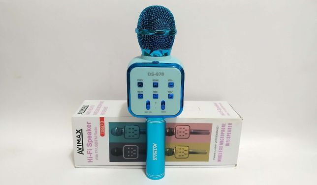 Караоке Bluetooth микрофон-колонка AVIMAX (2 в 1) с хорошим звучанием