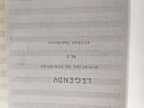 Konrad Pałubicki. Legendy na fortepian.op. 2.rękopis i kopia.