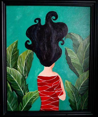 """Obraz 40x50 z drewnianą ramą """"Marzenie"""" Urban Jungle"""