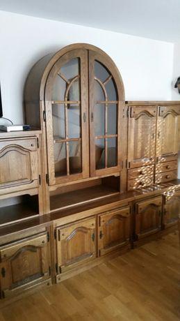Meble dębowe drewniane mieszko komoda salon kanapa enschede retro anty