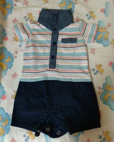 Летний бодик-шортики + рубашка +ползунки +2 человечка