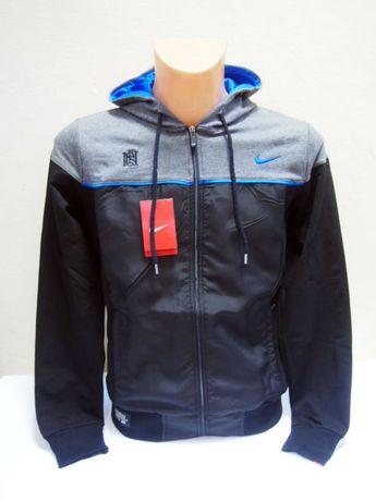 NIKE Męski dres Dri-Fit bluza spodnie czarny szary niebieskie logo S-X