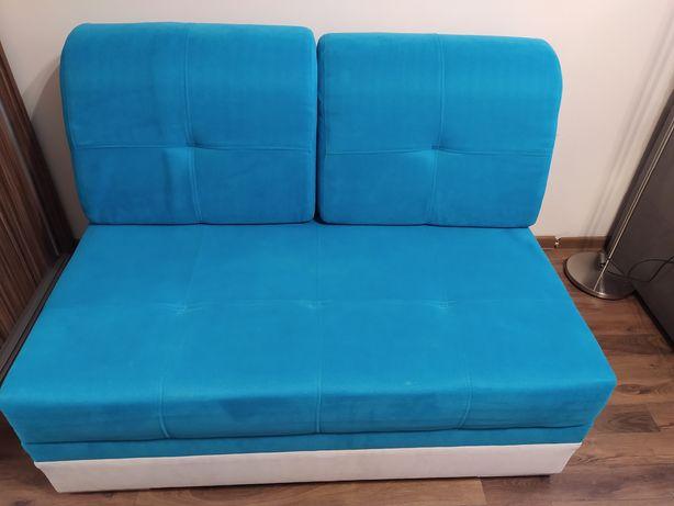 Sofa turkusowa 120x140 dla dzieci
