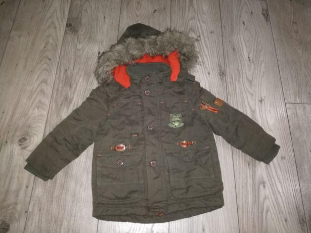 Kurtka zima C&A 92/98 + gratis czapka i szalik