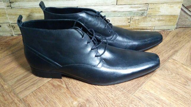 Кожаные мужские ботинки.