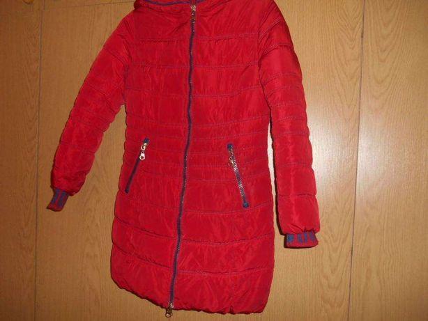 пуховик,пальто теплое темно красное