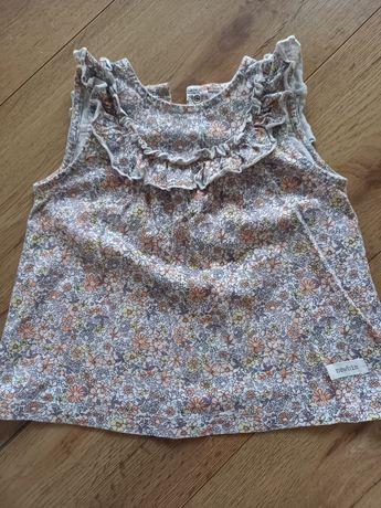 Bluzka bluzeczka w kwiatki newbie r. 86