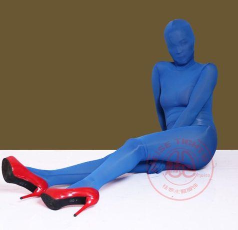 Bodystocking niebieski całkowity