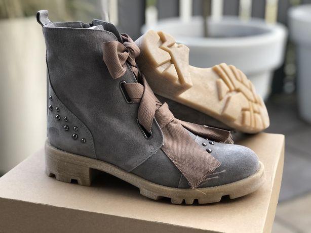 Workery - buty By o la la - 39 - nowe - skóra