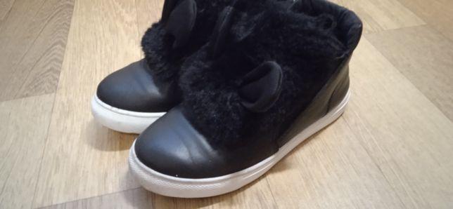 Хайтопы, ботинки, кроссовки котики с мехом р 32