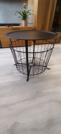 Stolik kawowy lakierowany czarny mat