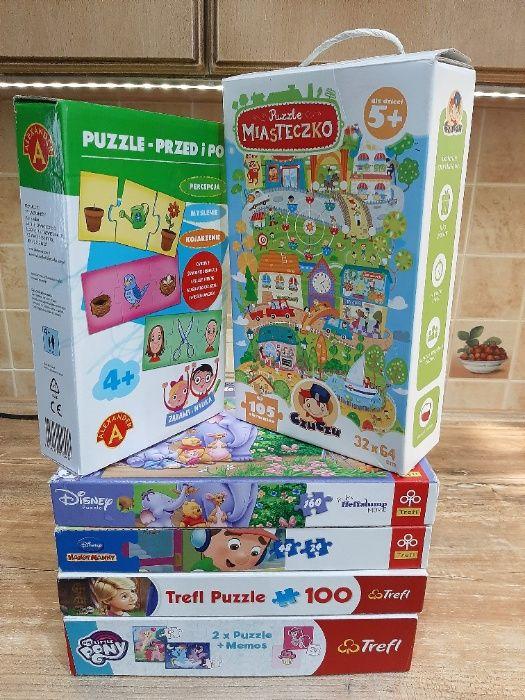 Zestaw puzzli 6 kompletów/Ponny,KubuśPuchatek,Disney/CzuCzu Ochotnica Dolna - image 1