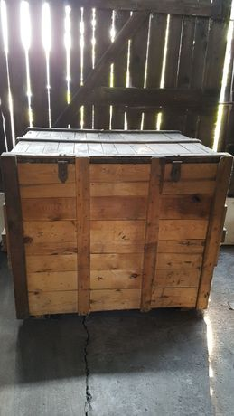 Skrzynia transportowa drewniana 117x98x107