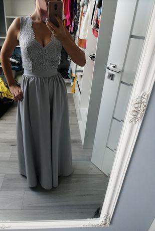 Sukienka długa szara