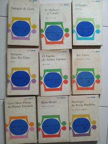 Coleção de livros RTP muito antigos verbo e Camilo castelo branco