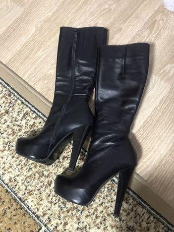 Сапожки сапоги женские на каблуке