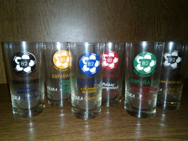 Kolekcjonerskie szklanki Mundial 82'