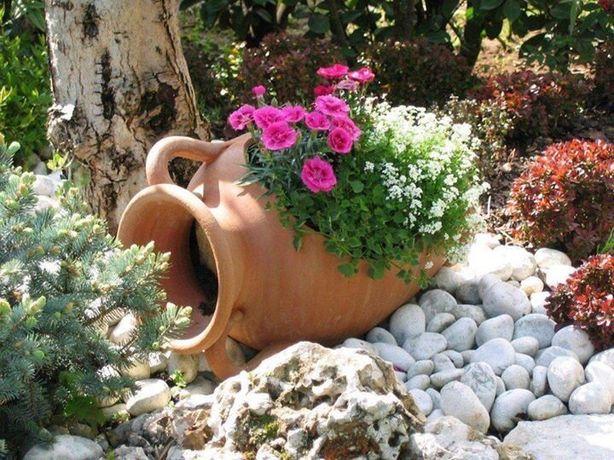 Gliniana donica amfora dzban do ogrodu Włoska