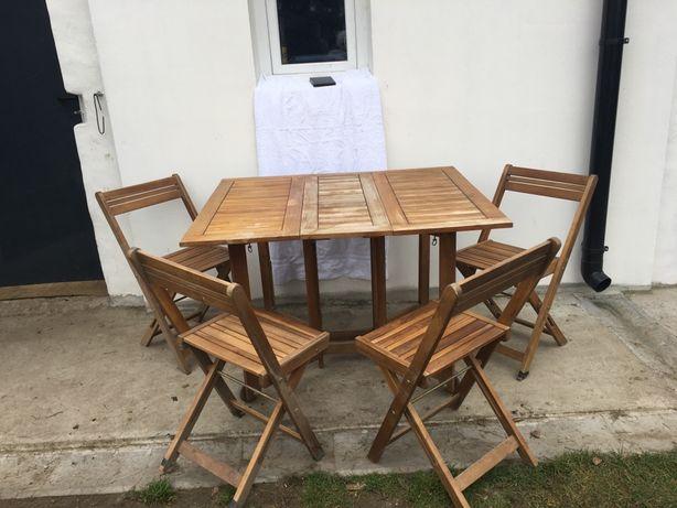 Sprzedam stolik z krzesłami na działkę lub werandę