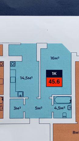 ЖК Евромісто 1-комнатная 45,6м2  Счастье 7