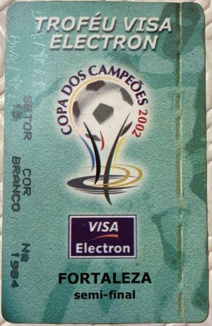 Bilhete meias finais taça do Brasil 2002