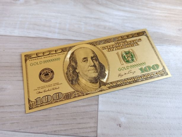 100 Dolarów - banknot złocony. Piękny!