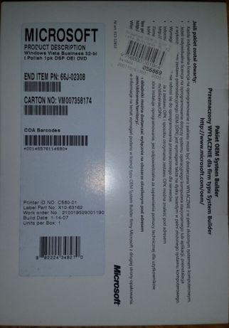 Zaplombowany Windows Vista Business PL 32/64 bit
