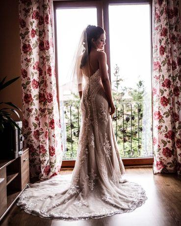 Suknia ślubna znany projektant 8862 S/M