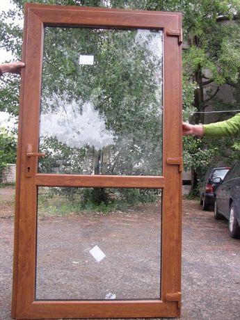 WZMOCNIONE Drzwi zewnętrzne wejściowe 100x200 PCV złoty dąb